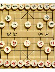 Недорогие -Настольные игры Шахматы Игрушки Круглый Дерево В китайском стиле Куски Универсальные Подарок