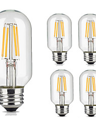 cheap -5pcs T45 4W E27 Vintage LED Filament Light Bulb Warm/Cool White Color Tubular Style Retro Edison Lamp AC220-240V