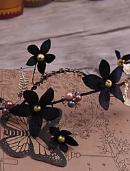 Lega d'imitazione del tessuto della perla della testa della lega-cerimonia nuziale occasione speciale fasce esterne 1 parte