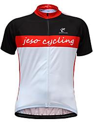 economico -JESOCYCLING Maglia da ciclismo Per uomo Manica corta Bicicletta Maglietta/Maglia Top Asciugatura rapida Traspirante Morbido Comodo
