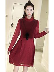 Signe le grand prix européen 2017 nouveau tempérament de la mode féminine était une dentelle mince une version ludique en bas de la robe