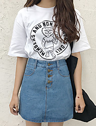 cheap -Women's Daily Mini Skirts,Vintage A Line N/A Solid Summer