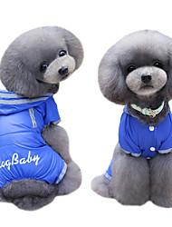 Chien Manteaux Pulls à capuche Imperméable Combinaison-pantalon Vêtements pour Chien Mignon Mode Britannique Bleu de minuit Fuchsia