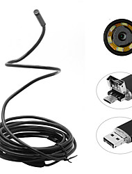 2 in 1 2M 5.5mm 6LEDs Rigid Cable Android Endoscope Waterproof Inspection Camera Micro USB Video Camera