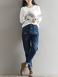 firmano 2017 molle allentate grandi cantieri era sottile jeans della vita dei pantaloni piedi femminili pantaloni harem pants letterari