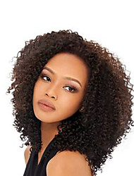 cheap -Human Hair Glueless Full Lace / Full Lace Wig Kinky Curly Wig 130% Natural Hairline / African American Wig / 100% Hand Tied Women's Short / Medium Length / Long Human Hair Lace Wig