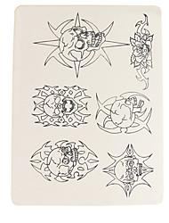 accesorios del tatuaje dragonhawk® 10 x maquillaje permanente tatuaje pieles de la práctica patrón cráneo