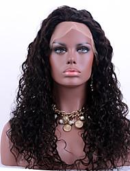Недорогие -Натуральные волосы Полностью ленточные Парик Бразильские волосы Kinky Curly Природа Черный Парик 130% Плотность волос с детскими волосами Природные волосы Парик в афро-американском стиле 100