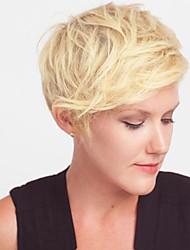 Недорогие -maysu высокого качества парик короткие светлые естественные прямые парики волосы монолитного человек для американских женщин