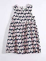 cheap -Girls' Floral Sleeveless Dress
