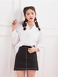 Zeichen 2017 Frühling neue koreanische Version der kleinen frischen wilden Mode niedlichen Hemd-Shirt