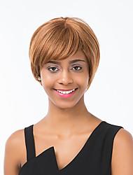 parrucca incantevole biancheria breve rettilineo dei capelli umani adatto a tutti i tipi di persone