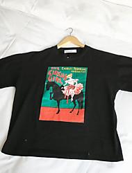 vento cartone animato a maniche corte t-shirt Harajuku bf studentesse 65-35 tessuti di cotone