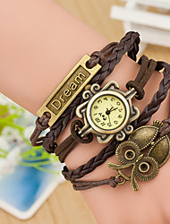 Women's Vintage Korean Velvet DIY Woven Bracelet Watch Bracelet Quartz Watch