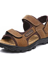 cheap -Men's Shoes Cowhide Spring Summer Fall Comfort Sandals Upstream Shoes for Casual Work & Safety Office & Career Outdoor Light Brown