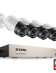 cheap -ZOSI® 4CH 1080P HDMI P2P TVI DVR Surveillance System Video Output 4PCS 2000TVL 2.0MP IP Camera Home Security CCTV Kits 1TB HDD