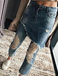 2017gigi Via battere modelli di design d'avanguardia doppi pantaloni mendicante del foro gonna vintage wide jeans gamba marea