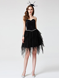 Ball Gown Sweetheart Short / Mini Tulle Cocktail Party Homecoming Dress with Beading Pleats by TS Couture®