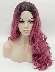 cheap -Popular 1B/Pink Ombre Color Wave Synthetic Wigs For Afro Women