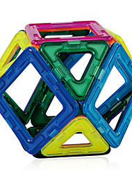 cheap -Magnet Toys Building Blocks Magnetic Blocks Magnetic Building Sets 56 Pieces Toys ABS Magnet High Quality Magnetic Square Triangle