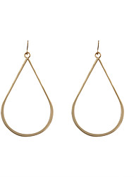 Drop Earrings Alloy Circle Fashion Oval Gold Jewelry Wedding Party Halloween Daily Casual Sports 1 pair