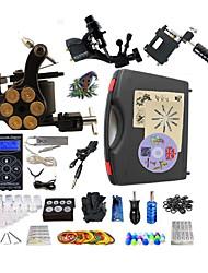 Недорогие -BaseKey Татуировочная машина Профессиональный комплект для татуировки - 3 pcs татуировки машины Светодиодный источник питания Чехол в комплекте 1 х Стальная тату-машинка для контура и заливки / 2