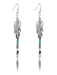 cheap -Women's Crystal Imitation Pearl Drop Earrings - Unique Design Bohemian Silver Wings / Feather Earrings For Party Special Occasion Daily