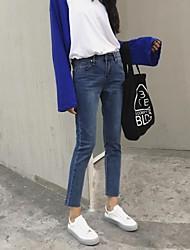 2017 segno Corea per fare il vecchio sottile era pantaloni a matita sottile denim elasticizzato pantaloni piedi femminili bordatura
