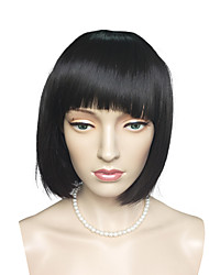 Top Quality Short Bob Wig Synthetic Fiber Wig Black Color Costume Cosplay Wigs