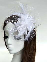 cheap -Feather Fascinators / Flowers / Hats 1 Wedding / Special Occasion Headpiece