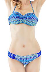 cheap -Women's Bandeau/Boho Colorful Wave Bandage Ties Swimsuit Bikini