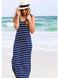Burst-Modelle in Europa und Amerika Streifen ärmellosen Overall Mode sexy Bandage Kleid Rock Strand Kleid