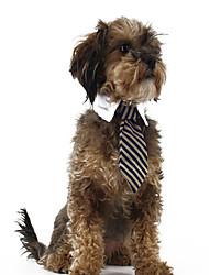 abordables -Gato Perro Suéteres Navidad Corbata/Pajarita Ropa para Perro Rayas Rojo Azul Raya Tejido Disfraz Para mascotas Hombre Mujer Clásico