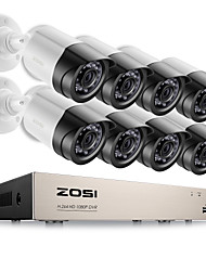 cheap -ZOSI® 8CH Email Alert Surveillance Kits 1080P HD-TVI DVR 8PCS 2.0MP IR Night Vision Camera Video CCTV System