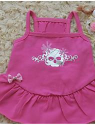 baratos -Cachorro Camiseta Vestidos Roupas para Cães Sólido Fúcsia Algodão Ocasiões Especiais Para animais de estimação Homens Mulheres Fofo
