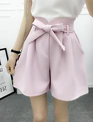 2016 лето новая корейская версия широких брюк брюки брюки пять штанов