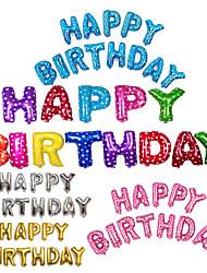 Недорогие -13 шт. / Компл. С днем рождения алфавит письмо воздушные шары многоцветные фольгированные воздушные шары партия