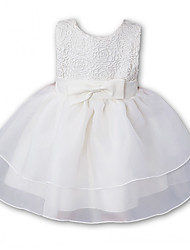 Baby Formal Solid Embroidered Dress,Polyester Summer-