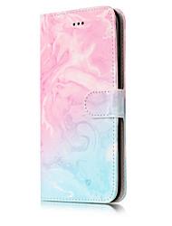 preiswerte -Für Geldbeutel Kreditkartenfächer mit Halterung Flipbare Hülle Muster Hülle Handyhülle für das ganze Handy Hülle Marmor Hart PU - Leder