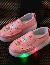 Fille-Décontracté Sport Soirée & Evénement-Blanc Rouge Rose-Talon Plat-Flower Girl Chaussures Light Up Chaussures-Mocassins et