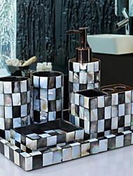 baratos -Jogo de Acessórios para BanheiroResina /Contemporâneo