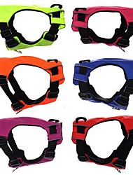 cheap -Dog Harness Vest Dog Clothes Fashion Solid Orange Red Green Blue Costume For Pets