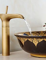 Antique Set de centre Jet pluie Séparé Soupape céramique Mitigeur un trou Cuivre antique , Robinet lavabo