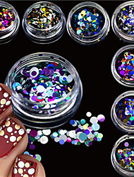 cheap -12bottles/set Nail Jewelry Glitter & Poudre Other Decorations Glitters Fashion Lovely Shimmering Wedding High Quality Daily