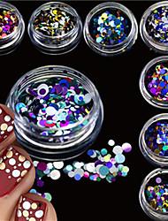 12bottles/set Nail Art Decoration Rhinestone Pearls Makeup Cosmetic Nail Art Design