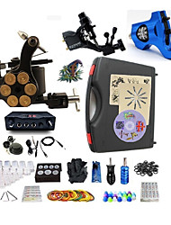 Недорогие -BaseKey Татуировочная машина Профессиональный комплект для татуировки - 3 pcs татуировки машины Светодиодный источник питания Чехол в комплекте 2 х Роторная тату-машинка для контура и заливки / 1