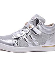 baratos -Para Meninas Sapatos Couro Ecológico Outono Conforto / botas de desleixo Tênis Velcro para Prata / Amarelo / Rosa claro