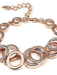 abordables -Femme Diamant synthétique Chaîne de tennis Chaînes & Bracelets - Strass Mode Bracelet Or / Argent Pour Regalos de Navidad / Soirée / Occasion spéciale