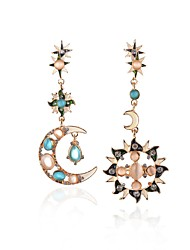cheap -Women's Drop Earrings Crystal Unique Design Mismatch Opal Alloy Jewelry Gold Party Daily Casual Costume Jewelry