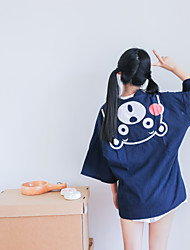 Sign new wind cardigan cotton cartoon bear stay printing Japanese kimono cardigan coat female